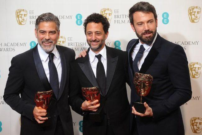 George Clooney, Grant Heslov y Ben Affleck , productores de Argo
