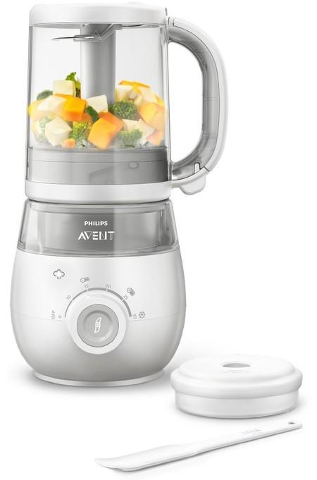 El procesador de alimentos para bebés 4 en 1 Philips Avent SCF875/02 cuesta 108,36 euros en Amazon