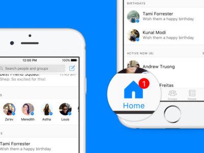 Facebook Messenger para iPhone se reinventa en una nueva versión