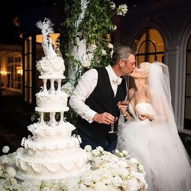 Gwen Stefani se da el sí, quiero por sorpresa y así es su vestido de novia (fiel a su estilo)