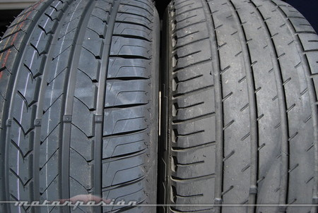 Neumático nuevo y neumático caducado