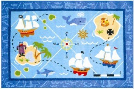 alfombra niños isla tesoro