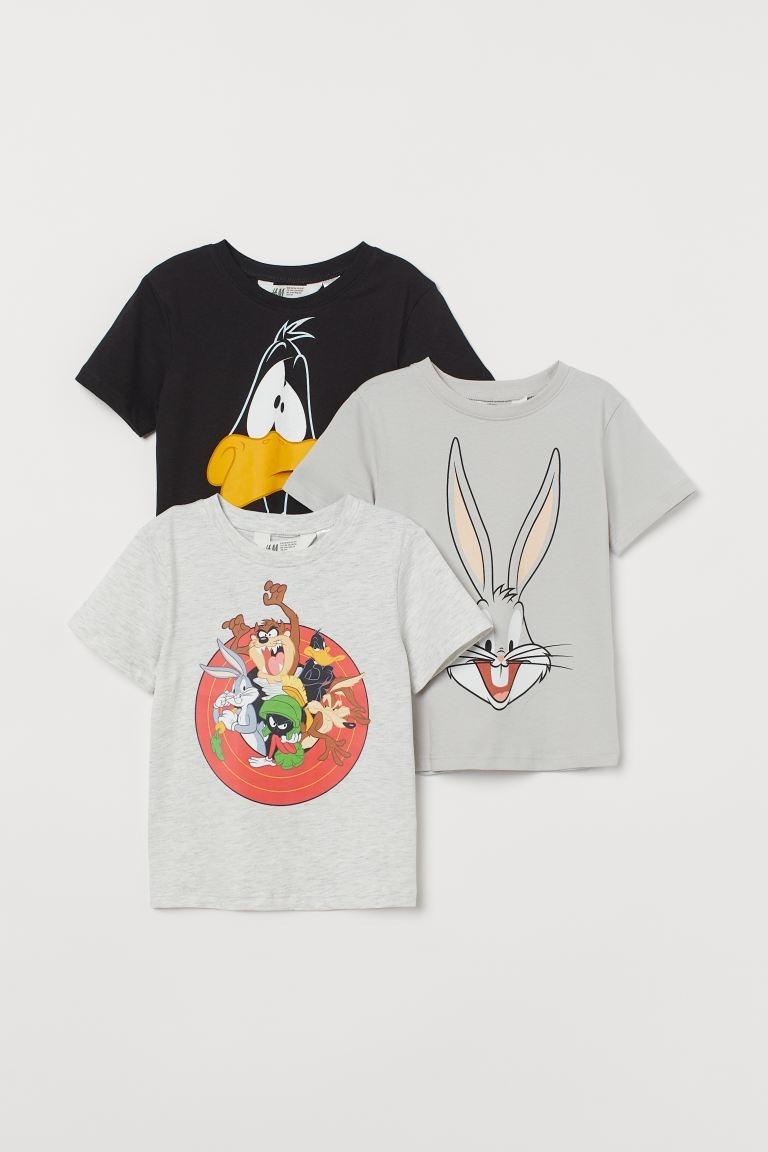 Camisetas en punto de algodón con motivo estampado.
