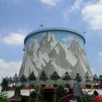 Este parque temático se ha construido en una antigua central nuclear
