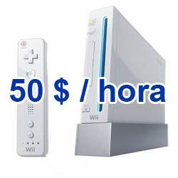 Juega a la Wii por 50 dólares la hora