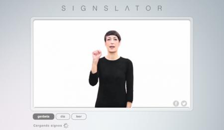 Singslator traduce del español a la lengua de signos directamente desde la web