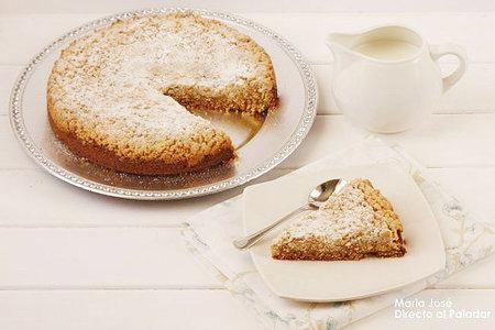 Receta de pastel con streusel de manzana