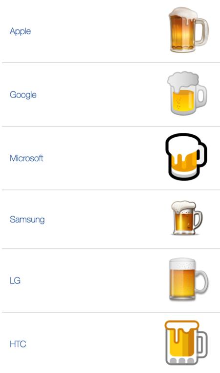 Las cervezas para los distintos packs de emojis