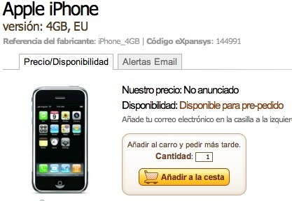 iPhone disponible para Pre-pedido