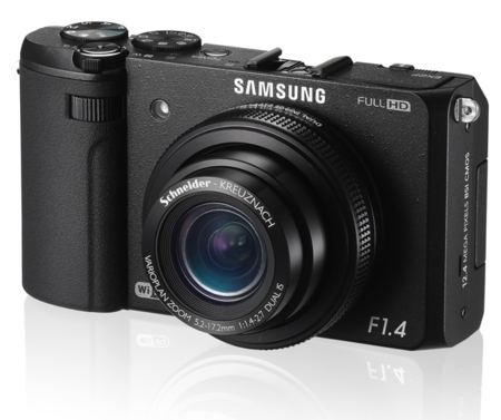 Samsung EX2F de frente
