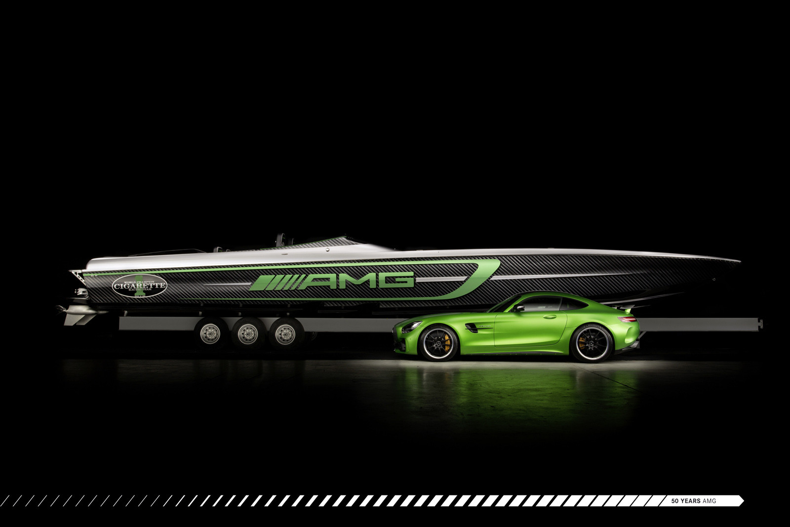 Cigarette Racing Team 50' Marauder AMG