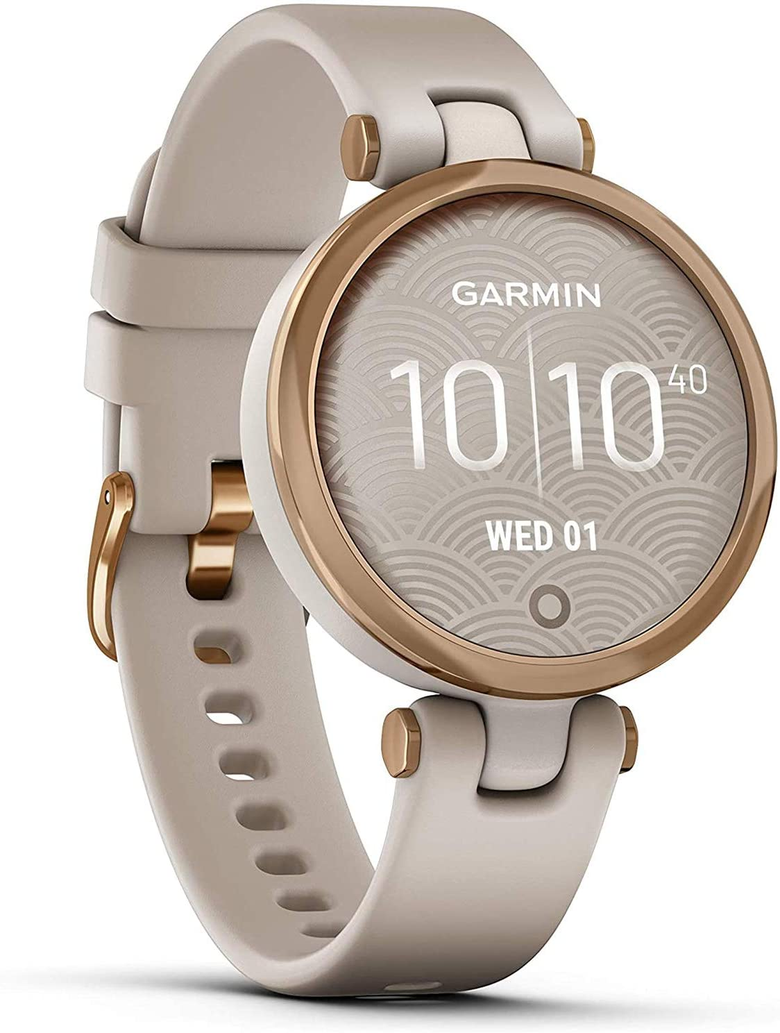Garmin Lily Sport Reloj Inteligente, Beige Rose Gold, One Size