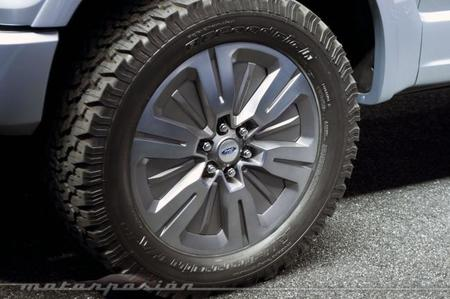 Trampillas en las ruedas del Ford Atlas Concept