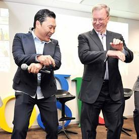 Eric Schmidt PSY Oppa Gangnam Style