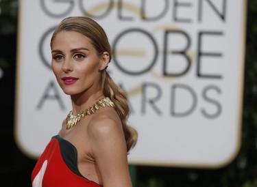 Olivia Palermo hace suya la alfombra roja de los Globos de Oro 2016 con un Delpozo