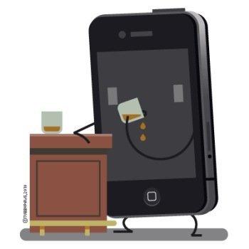 Como un iPhone amarrado a la barra de un bar: imagen de la semana