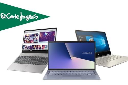 Portátiles HP, Acer, ASUS, MSI o Lenovo con hasta 170 euros de descuento, envío gratis o recogidas Click&Collect y Click&Car en las ofertas de la semana de El Corte Inglés