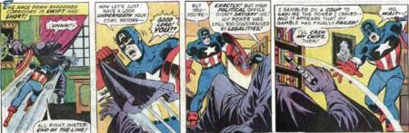Nixon Captain America Fight