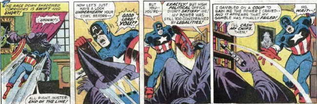 Nixon Captain America Fight