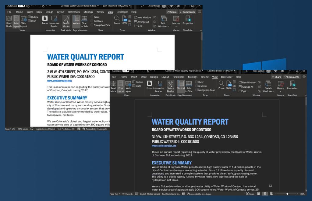 Microsoft Word tendrá un modo oscuro verdaderamente oscuro que al fin aplica a las páginas