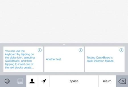 Quickboard, un concepto de teclado interesante que llegará en otoño junto a iOS8
