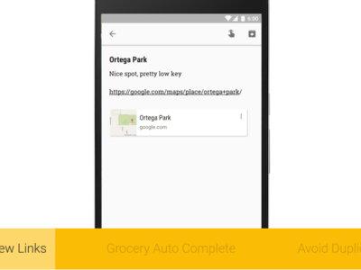 Google Keep para Android: previsualización de enlaces, detección de duplicados y autocompletado