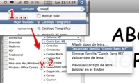 Desactiva Comic Sans en MacOS X