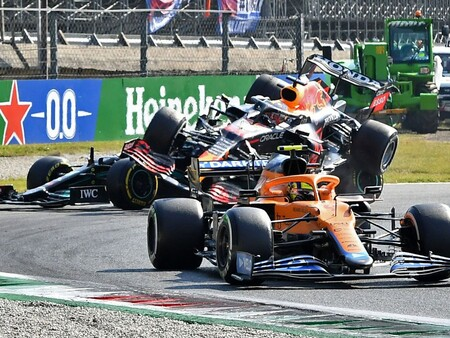Norris Verstappen Hamilton Italia F1 2021