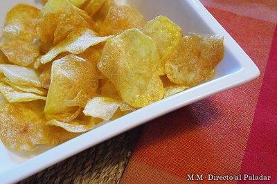 Cómo hacer patatas chips en casa. Receta