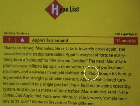 Imagen de la semana: Wired nombra el iPad en un documento de hace 11 años
