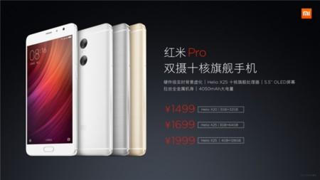 Xiaomi Redmi Pro Variantes