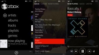 zBox, un espectacular reproductor de música inspirado en Zune. La aplicación de la semana
