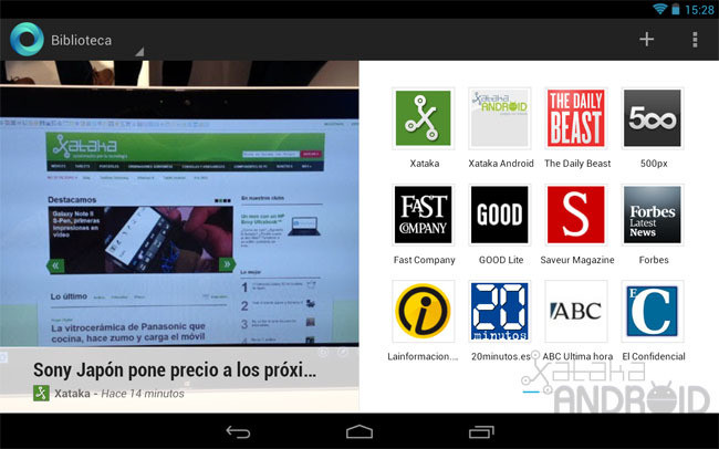 Google Currents para tablets Android