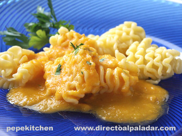 Receta de pasta con salsa de calabaza y tomate