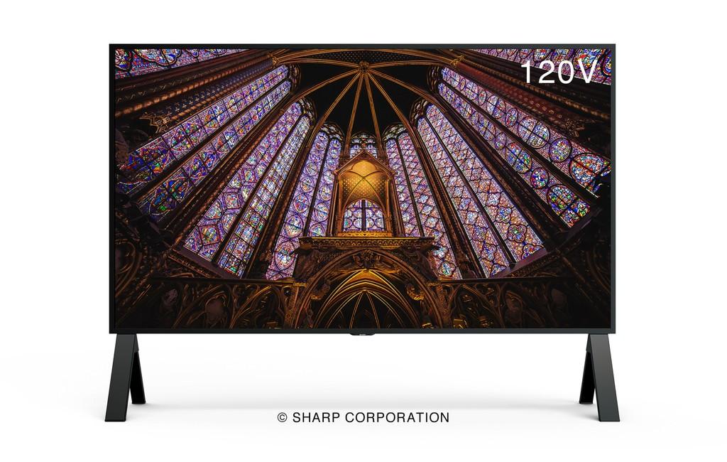 La exageración hecha monitor: la Sharp 8M-B120C ofrece 120 pulgadas de diagonal, resolución 8K, refresco de 120 Hz y HDMI 2.1