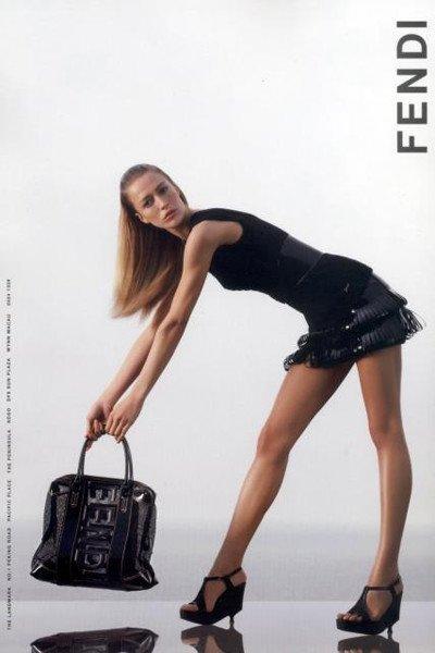 Raquel Zimmermann imagen de Fendi