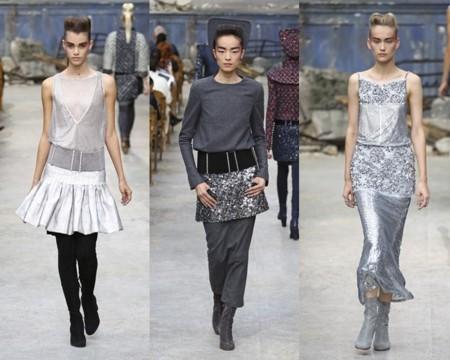 Tonos metalizados en el desfile de Chanel