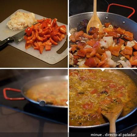 arroz con bacalao - preparación