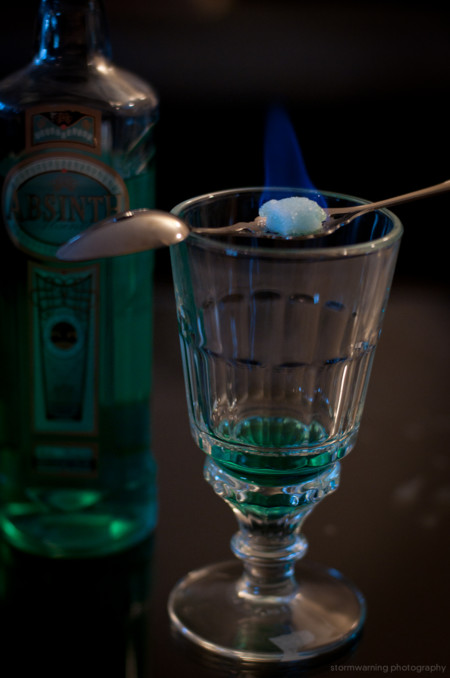 Absinthe Bohemian Ritual Burning The Sugar