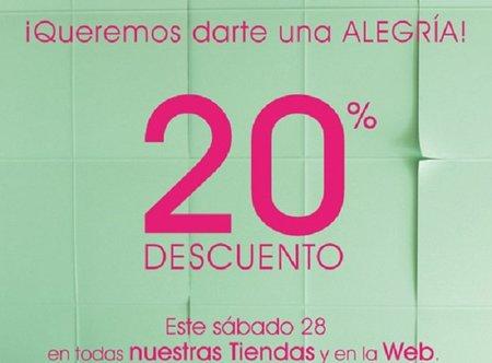 Descuento del 20% el sábado 28 de abril en Zara Home