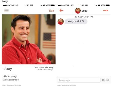 Joey y Tinder