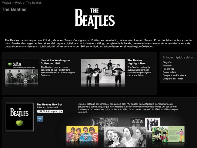 apple beatles itunes store