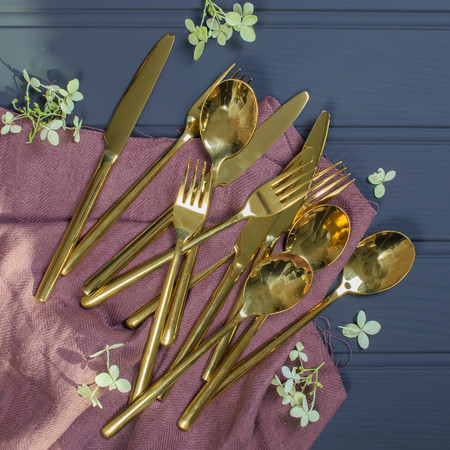 Gold Cutlery Set 24pc
