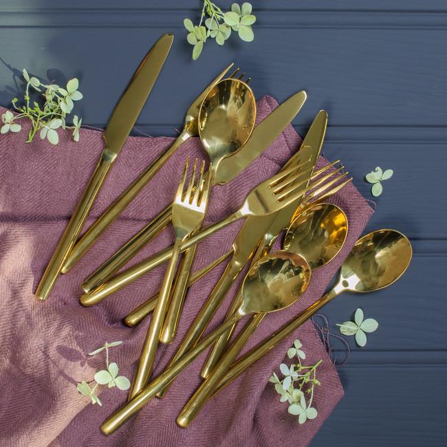 Gold Cutlery Set 24pc