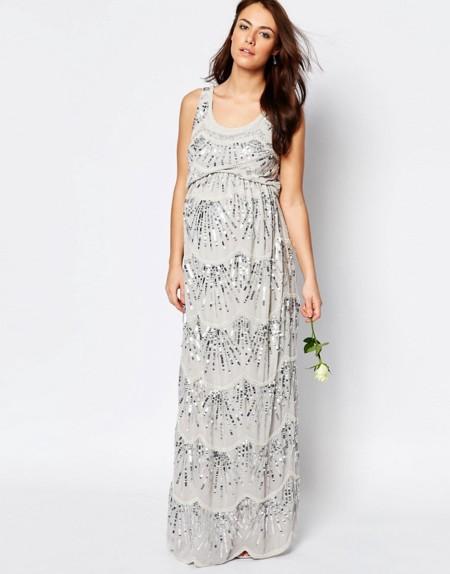Vestido Premama Largo Lentejuelas