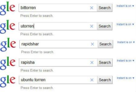 """Google censura """"Megaupload"""", """"Rapidshare"""" y """"BitTorrent"""" en el autocompletado de búsquedas"""
