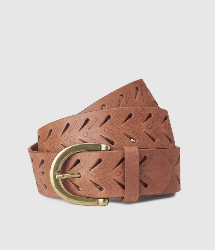 Cinturón de mujer Fashion Focus de piel en marrón