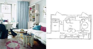 Planos de minipisos V: La casa de Rashida Jones