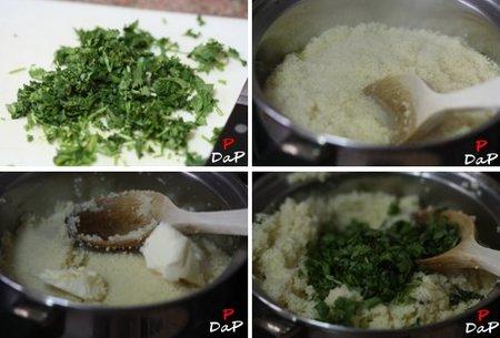 Hacer cous cous de cilantro
