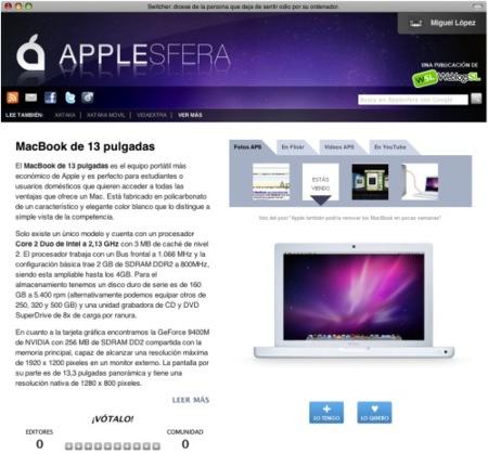 Applesfera 2.0: Todos los productos del mundo de Apple más cerca que nunca